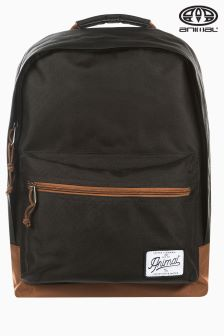 Animal Carve Black Backpack