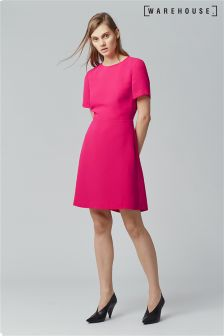 Warehouse Pink Cross Back Dress