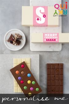 Personalised Artisan Chocolate Christmas Gift Set By Quirky Gift Library