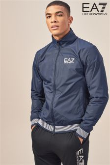 Emporio Armani EA7 Navy ID Funnel Neck Track Top