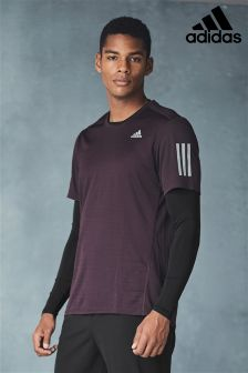 adidas Burgundy Short Sleeved Tee
