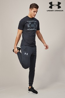 Under Armour Black Rival Cotton Blend Jogger