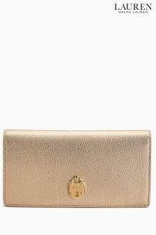 Lauren Ralph Lauren Gold Leaf Slim Wallet