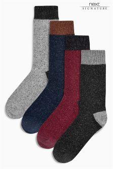 Colour Nep Socks Four Pack