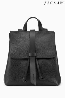 Jigsaw Black Blake Leather Backpack