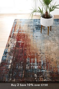 Rust Salvage Abstract Rug