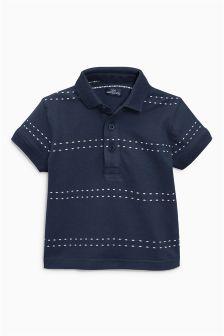 Short Sleeve Stitch Stripe Polo (3mths-6yrs)