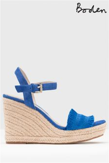 Boden Blue Laticia Espadrille Wedge