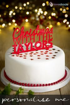 Personalised Christmas Cake Topper By Loveabode