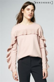 Warehouse Pink Frill Sweat