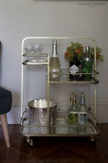 Culinary Concepts Gold Bar Drinks Trolley