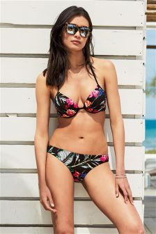 Floral Padded Underwired Bikini Top
