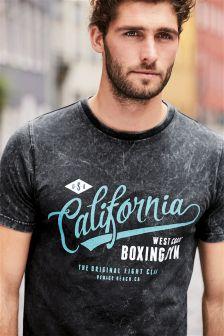 Graphic Acid Wash T-Shirt