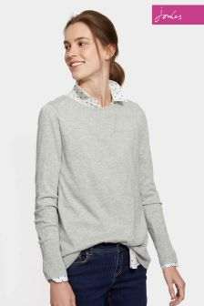 Joules Grey Curved Hem Tara Jumper