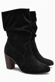 Mid-Calf Slouch Boots
