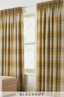 Astley Check Multi Header Blackout Curtains