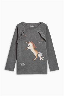 Unicorn Ruffle T-Shirt (3-16yrs)