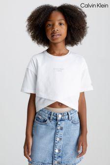 Tommy Hilfiger White Stretch Poplin Shirt