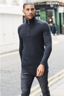 Superdry Half Zip Knitted Jumper