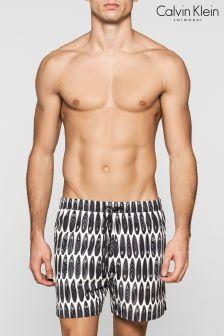 Calvin Klein Black Drawstring Swim Short