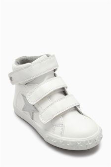 Touch Fastening High Top Trainers (Younger Girls)
