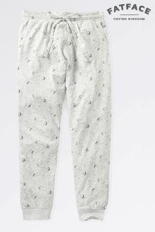 Fat Face Grey Marl Luna Sky Jersey Cuffed Pants
