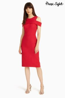 Phase Eight Scarlet Sun Martina Cold Shoulder Dress