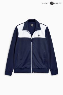 Pretty Green Slim Fit Colourblock Track Jacket