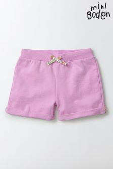 Boden Pink Patch Pocket Jersey Shorts