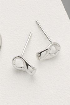 Organic Metal Stud Earrings