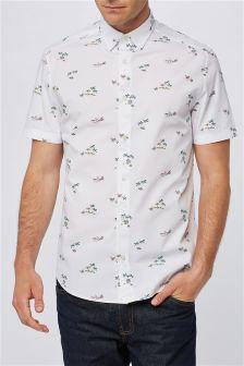 Hawaiian Print Short Sleeve Shirt