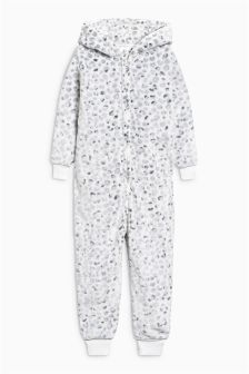 Snow Cat Fleece All-In-One (3-16yrs)