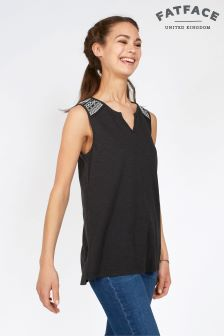 Fat Face Phantom Anya Embroidered Longline Top