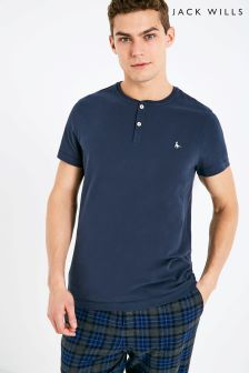 Jack Wills Barmoor Short Sleeve Henley Top