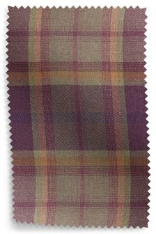 Kingsley Purple Check Fabric Roll