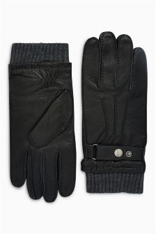 Strap Leather Gloves