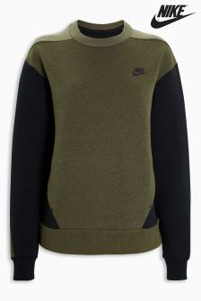 Nike Olive Tech Fleece Crew