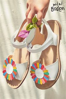 Boden White Holiday Sandals