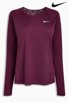Nike Bordeaux Dry Miler Top