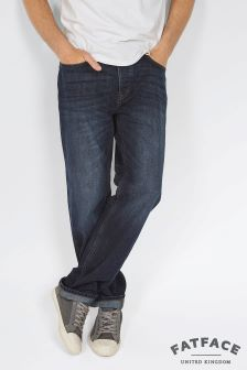 FatFace Denim Raw Rinse Straight Jeans