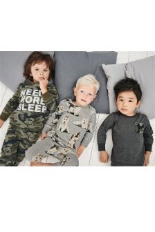 Husky Camo Snuggle Fit Pyjamas Three Pack (9mths-8yrs)