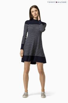 Tommy Hilfiger Blue Gaila Stripe Dress