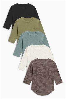 Minerals Long Sleeve T-Shirts Five Pack (3mths-6yrs)