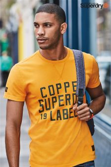Superdry Yellow Copper Label Cafe Race Tee