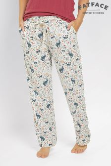 Fat Face Ivory Woodland Jersey Classic Pants