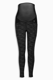 Maternity Printed Technical Leggings