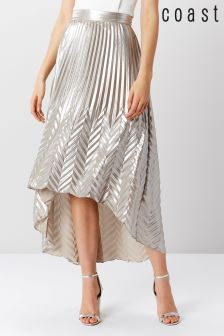 Coast Silver Paige Pleat Maxi Skirt