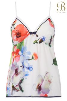B By Ted Baker White Forget Me Not Floral Camisole