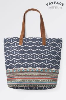 Fat Face Blue Tia Woven Shopper