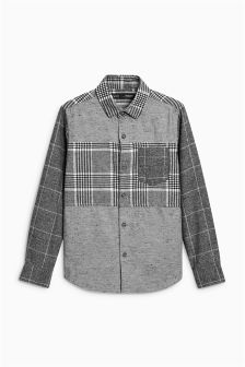 Long Sleeve Spliced Shirt (3-16yrs)